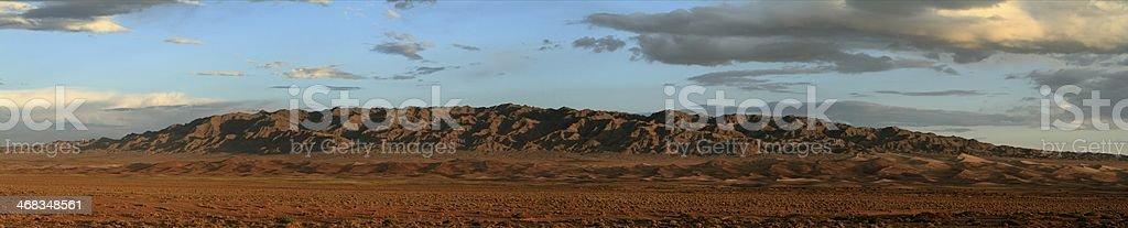 Die Wüste Gobi in der Mongolei royalty-free stock photo