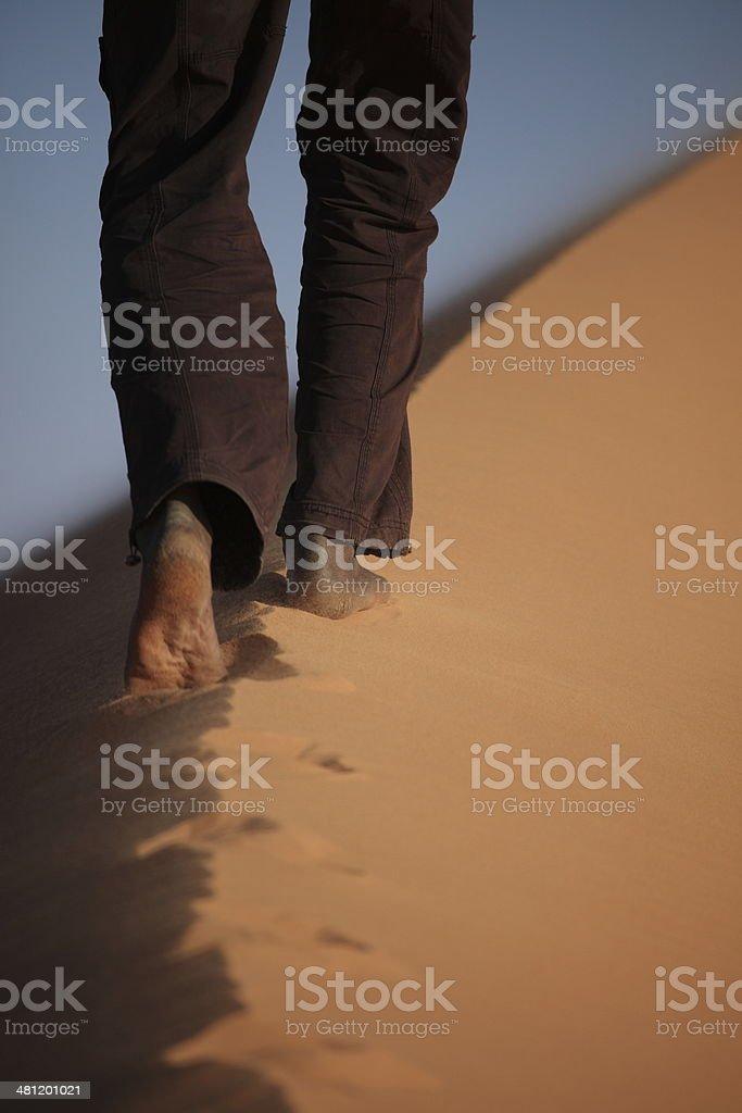 Die Wüste Sahara in Algerien stock photo