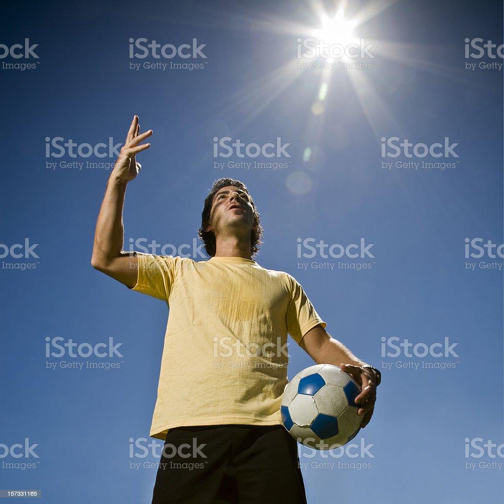 Diego Maradona, the Hand of God. Soccer Concept. stock photo