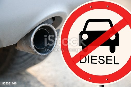 istock Diesel driving ban Euro 6 - german road sign with the german text