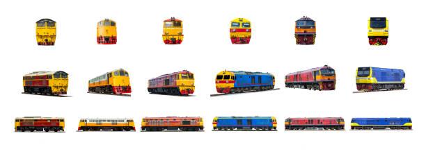 diesel ellok ställa isolerade på vit bakgrund. - järnvägsvagn tåg bildbanksfoton och bilder