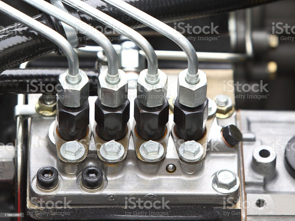 diesel engine detail royalty-free stock photo