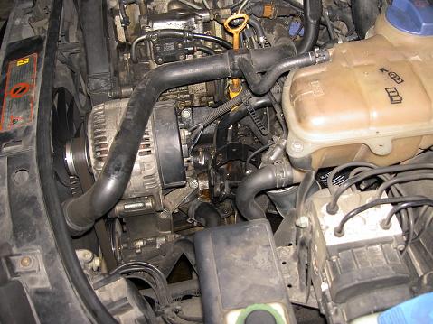 6 0 powerstroke fuel filter change diesel engine in the car during the fuel filter change stock photo  fuel filter change stock photo