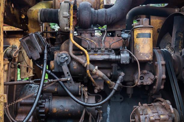 Diesel-Motor von einen alten Traktor. – Foto