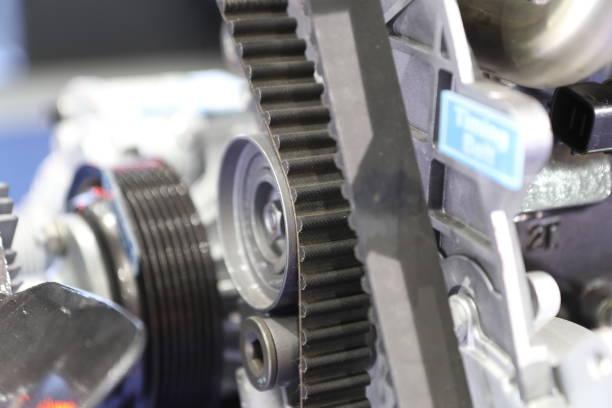 Correa de distribución motor diesel; - foto de stock