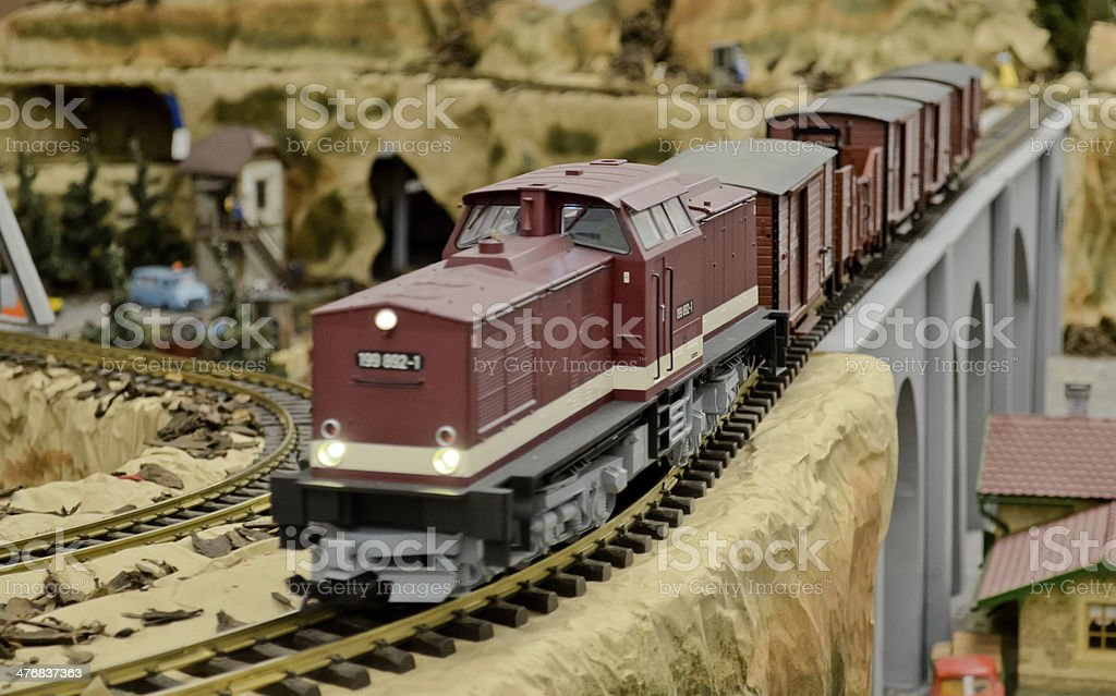 Diesel freight train stock photo