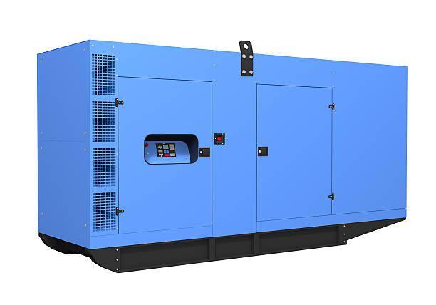 diesel-generator, isoliert auf weißem hintergrund - generator text stock-fotos und bilder