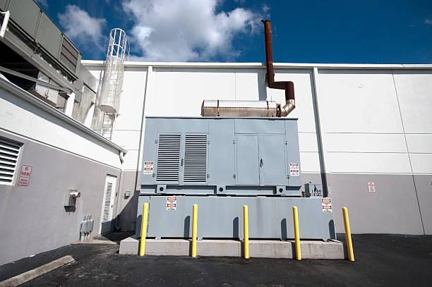 generador de diesel unidad de reserva - generadores fotografías e imágenes de stock