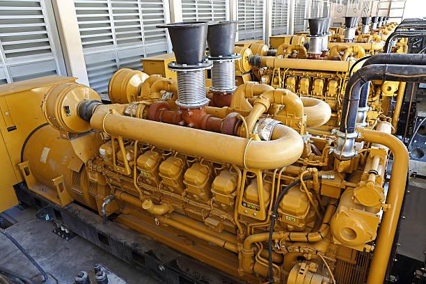 Diesel Generators stock photo