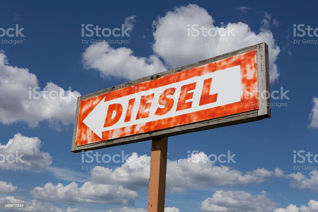 Diesel here! stock photo