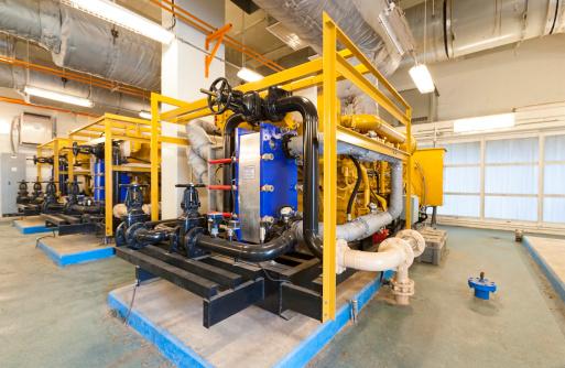 Three backup diesel power generators in a public water utility treatment plant.