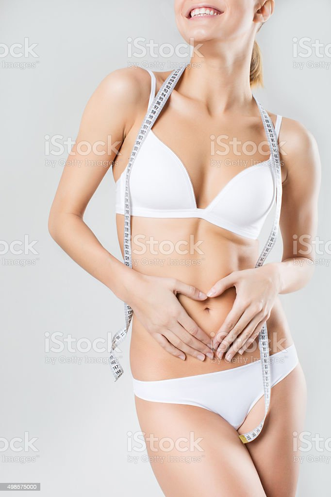 Diet and beautiful figure. stock photo