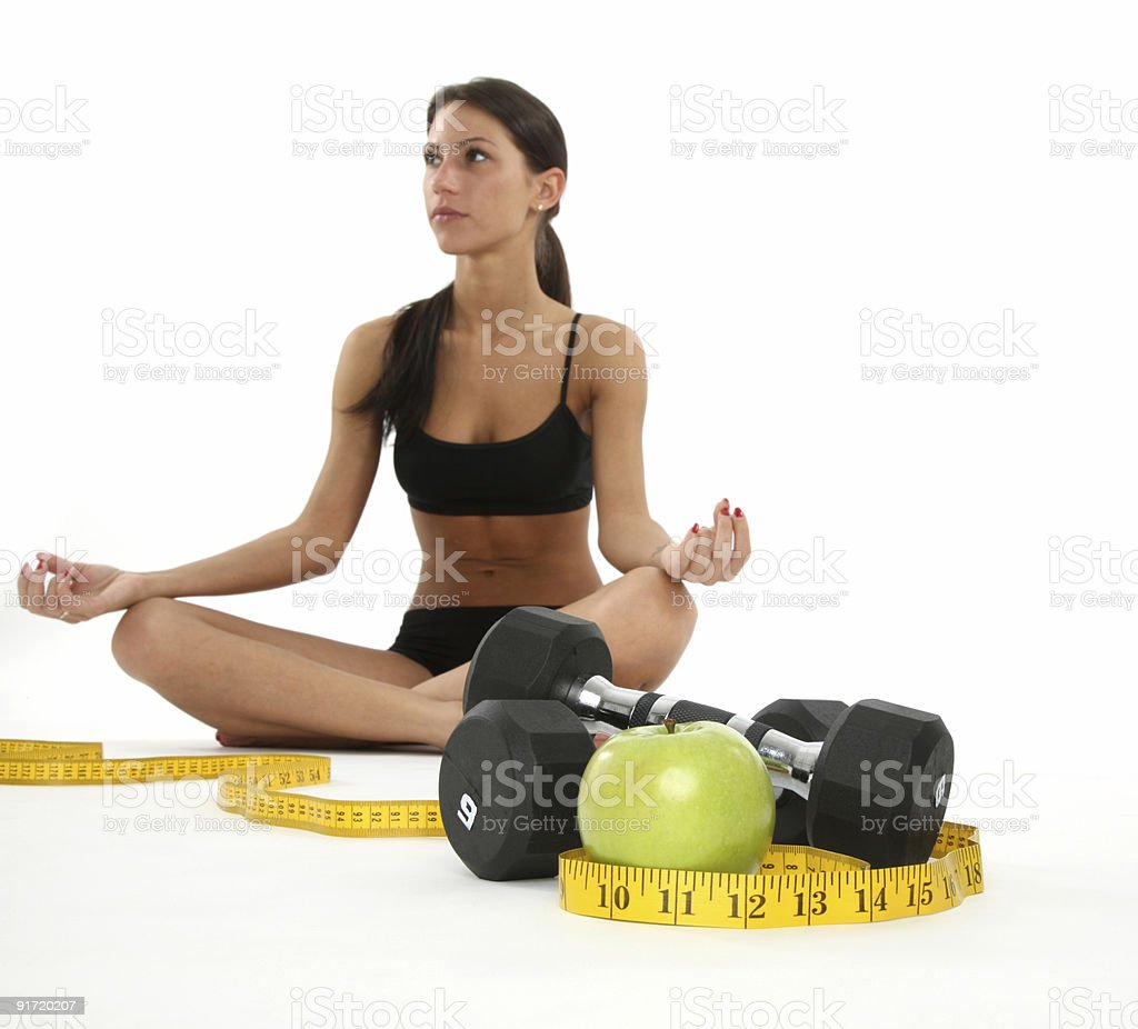 Diet and fitness show great results royalty-free stock photo
