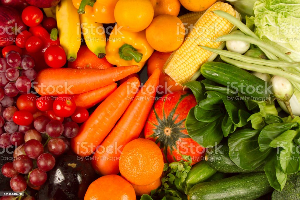 Diet and vegetarian food health care and wellness concept. - Royalty-free Alternative Lifestyle Stock Photo