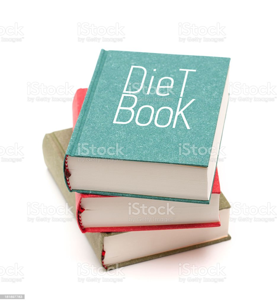 Diet books isolated on white background royalty-free stock photo