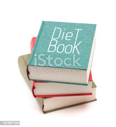 453684295istockphoto Diet books isolated on white background 181897783