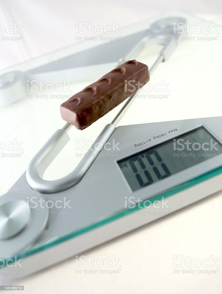 Diet Chocolate Bar royalty-free stock photo