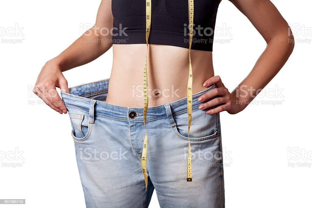 diet concept and hanppy woman stock photo