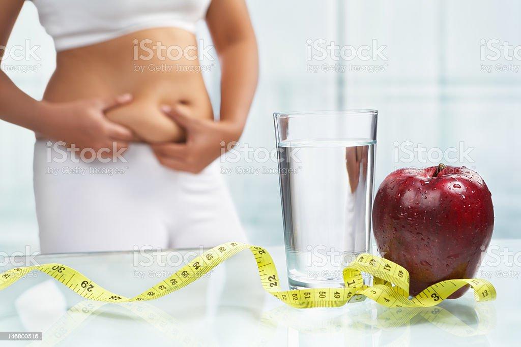 Concepto de dieta - foto de stock