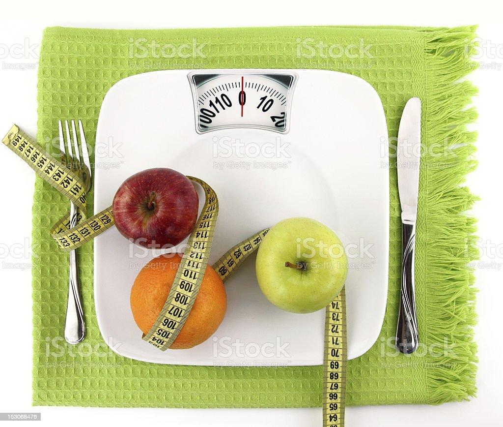 Concepto de dieta - Foto de stock de Báscula libre de derechos