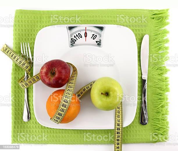 Concepto De Dieta Foto de stock y más banco de imágenes de Báscula