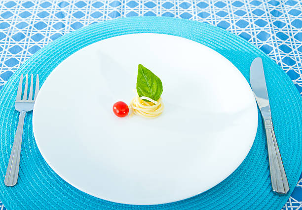 diet concept. small portion - serving size stock photos and pictures