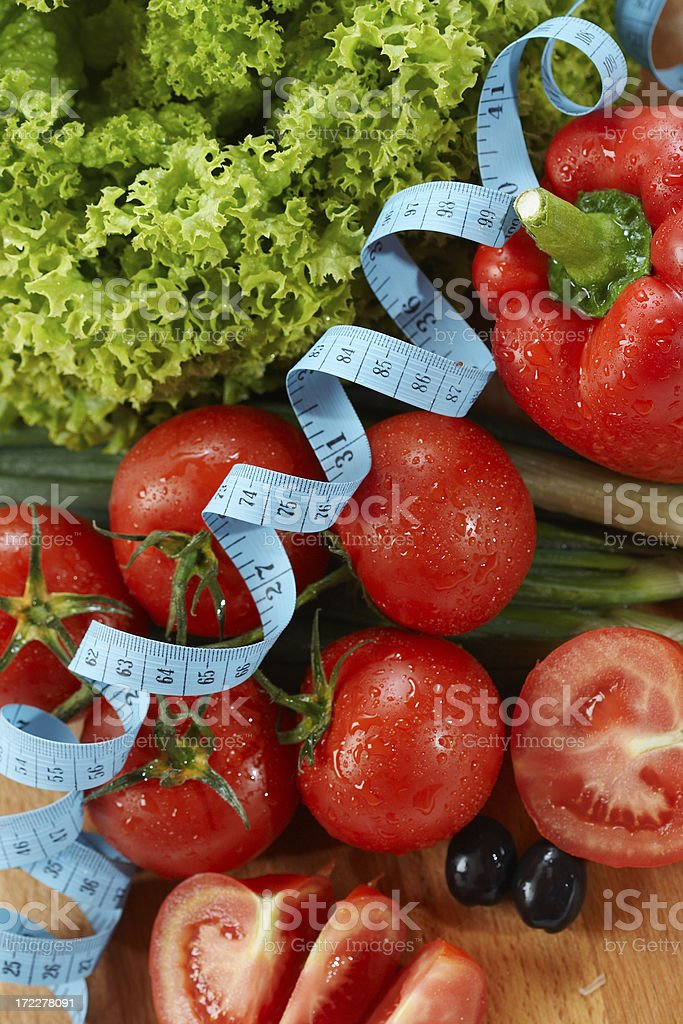 Diet concept with salad royalty-free stock photo