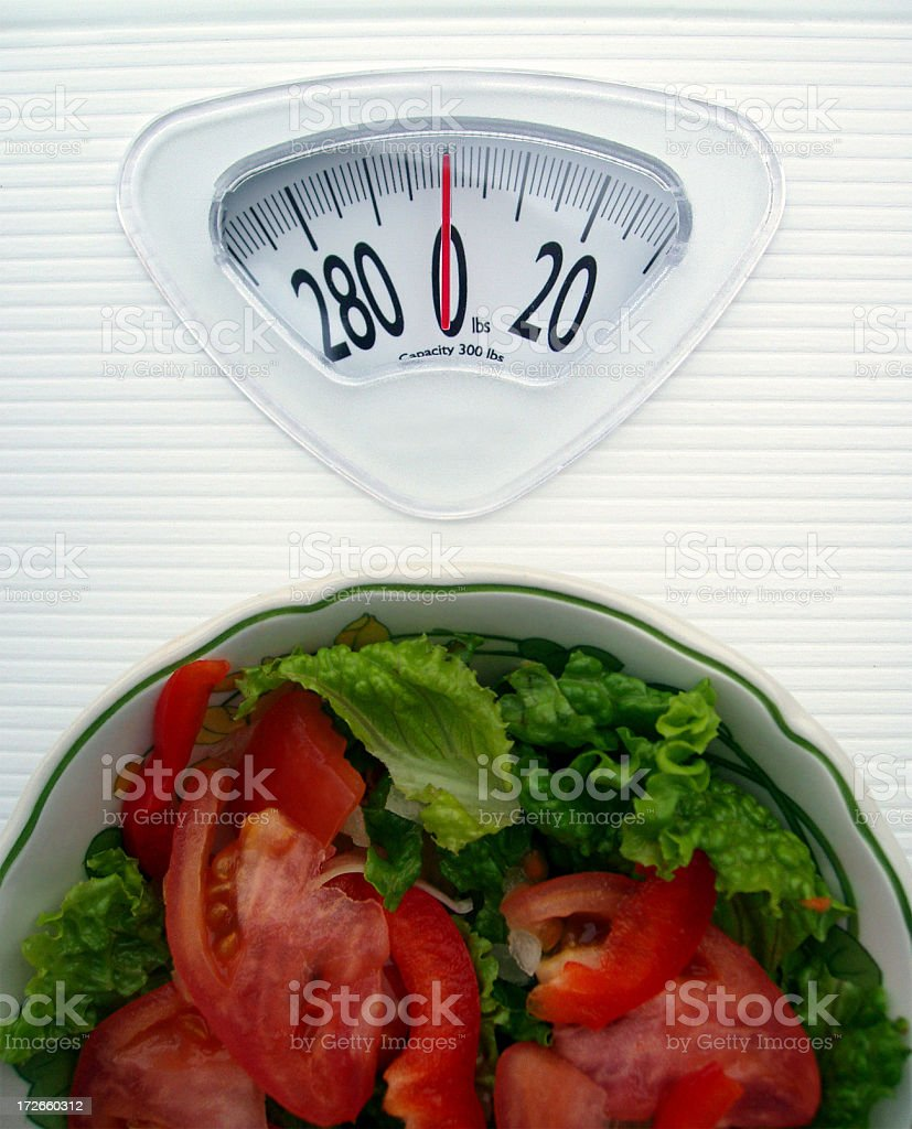 Diet & Dieting - Watching your weight royalty-free stock photo