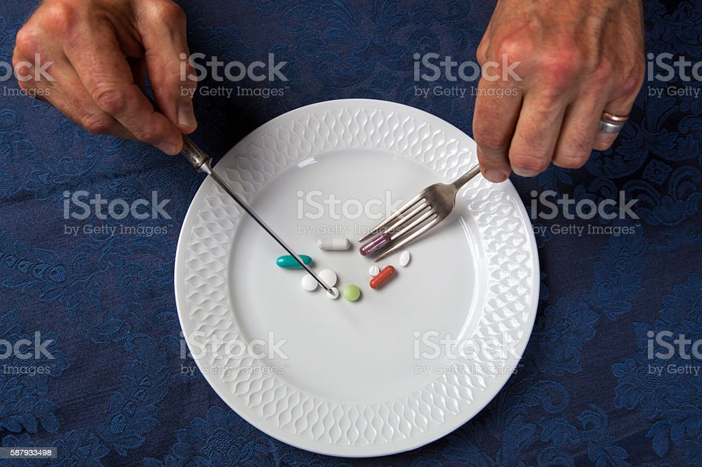 Diet eating concept stock photo