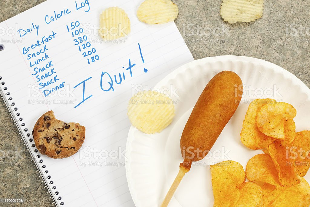 Diet Failure or Unhealthy Eating royalty-free stock photo