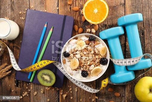 diet food concept, breakfast