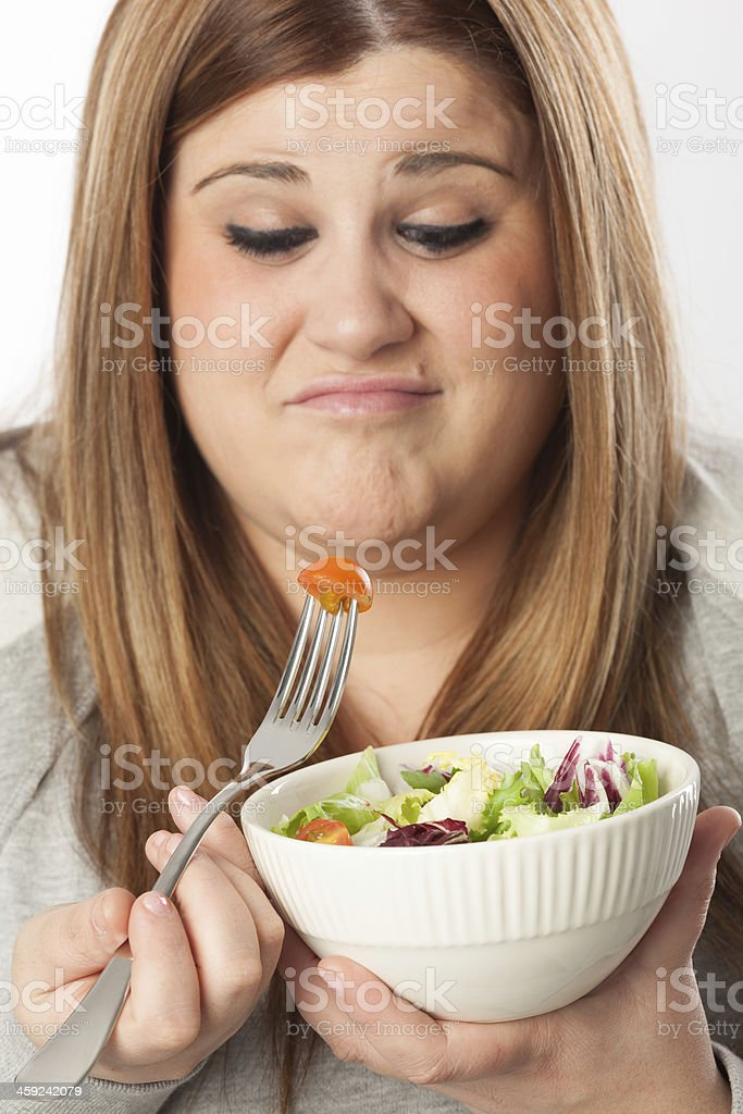 Diet frustration royalty-free stock photo