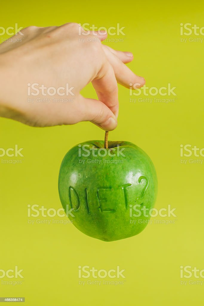 diet green apple royalty-free stock photo