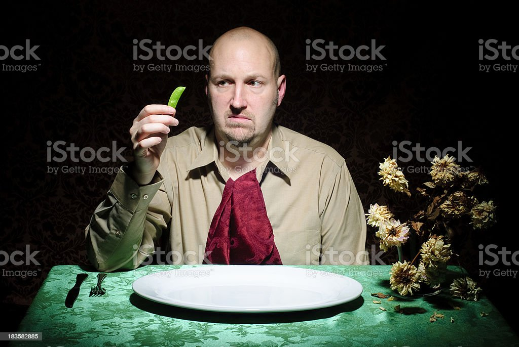 Diet Guy - Apprehensive royalty-free stock photo