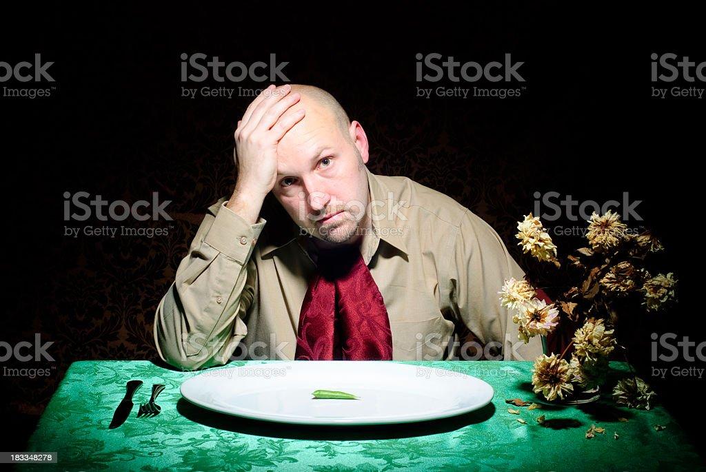 Diet Guy - Desperate royalty-free stock photo