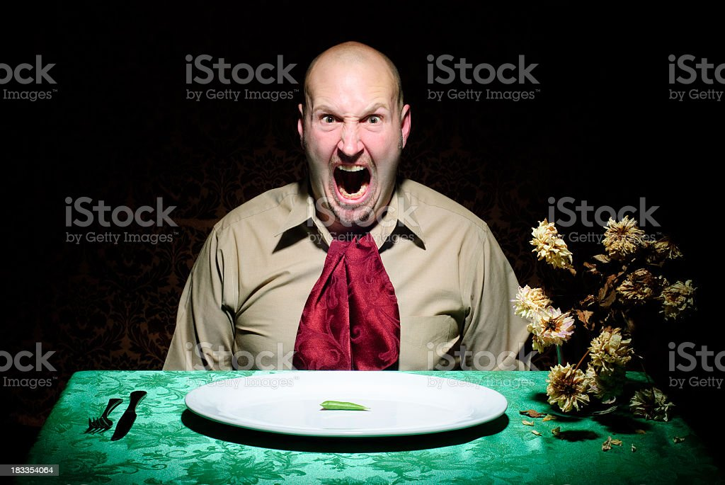 Diet Guy - Furious royalty-free stock photo