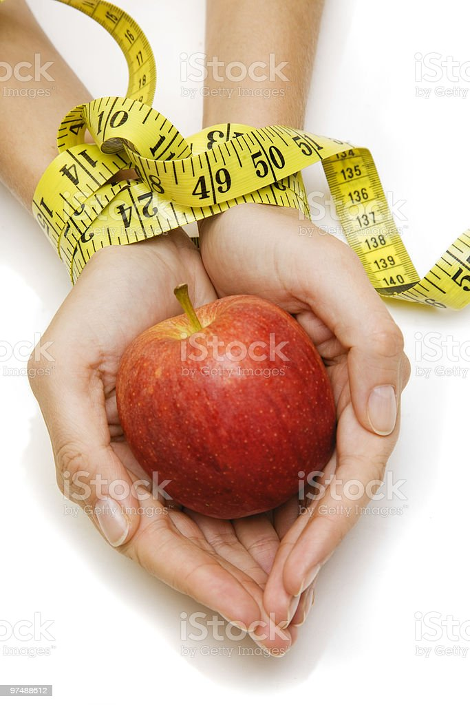 Diet Hands royalty-free stock photo