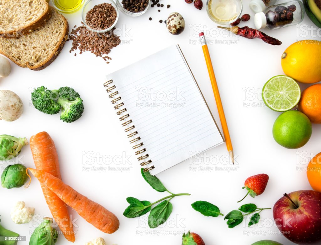 Diet List , Healty Eating stock photo