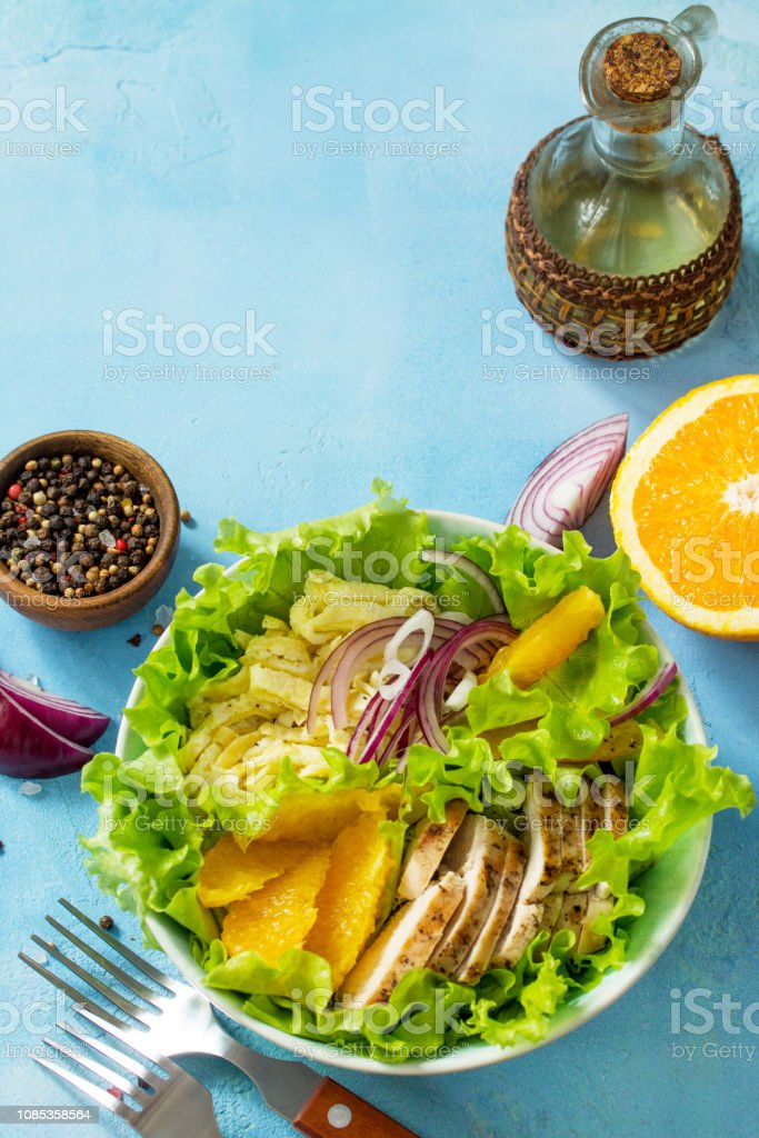 Egg and orange diet menu