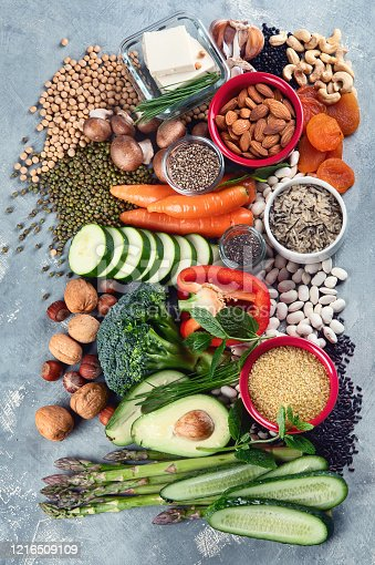 istock Diet of plant based protein. 1216509109