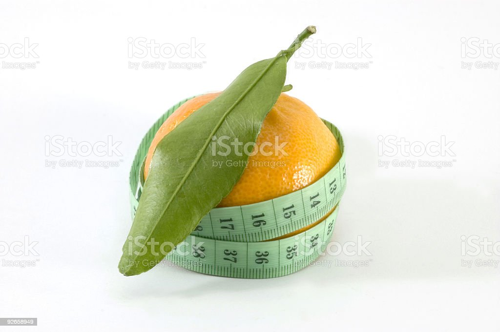 Diet Orange royalty-free stock photo