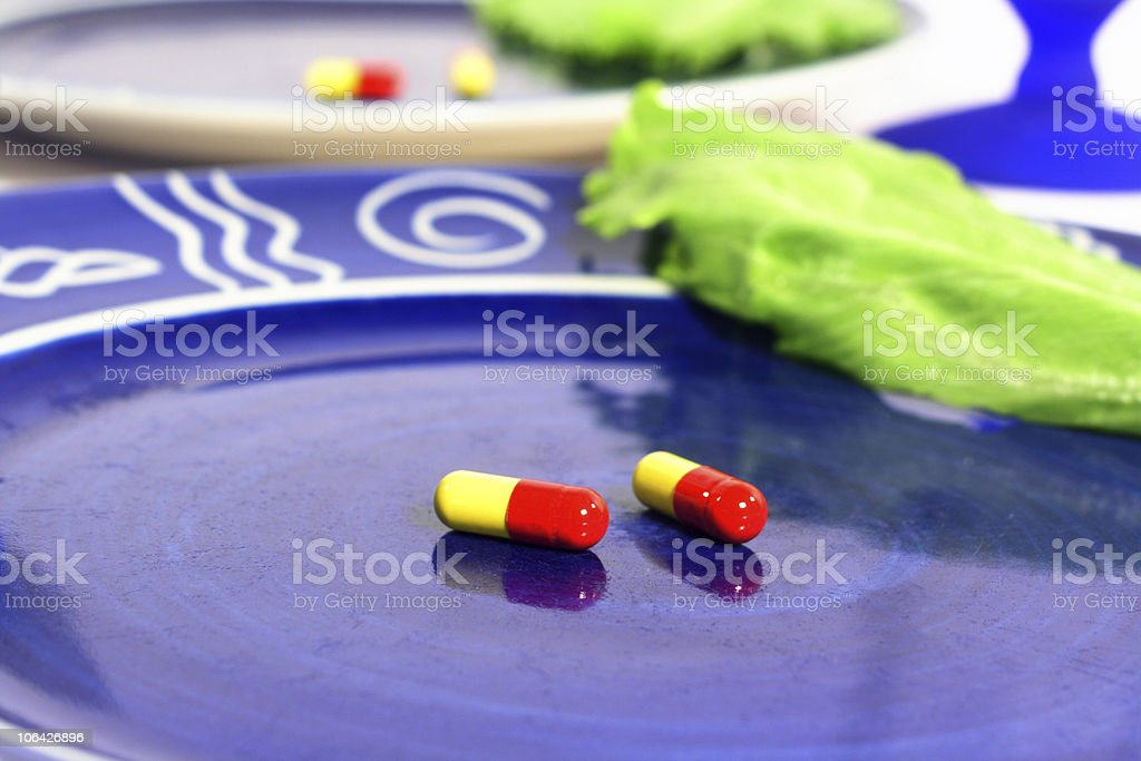 Diet pills royalty-free stock photo