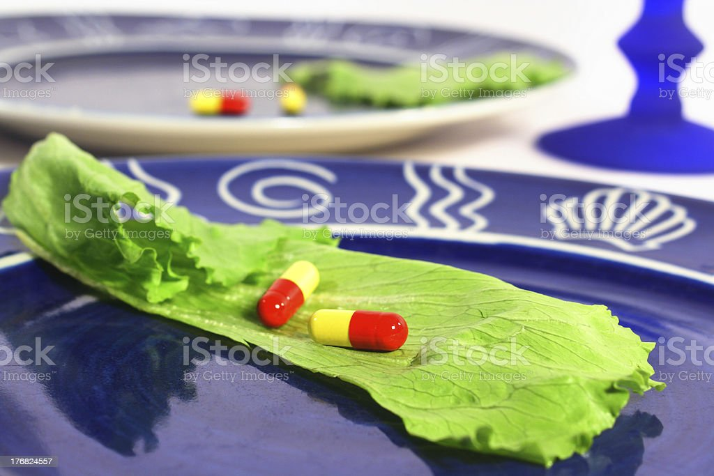 Diet pills royalty-free stock photo