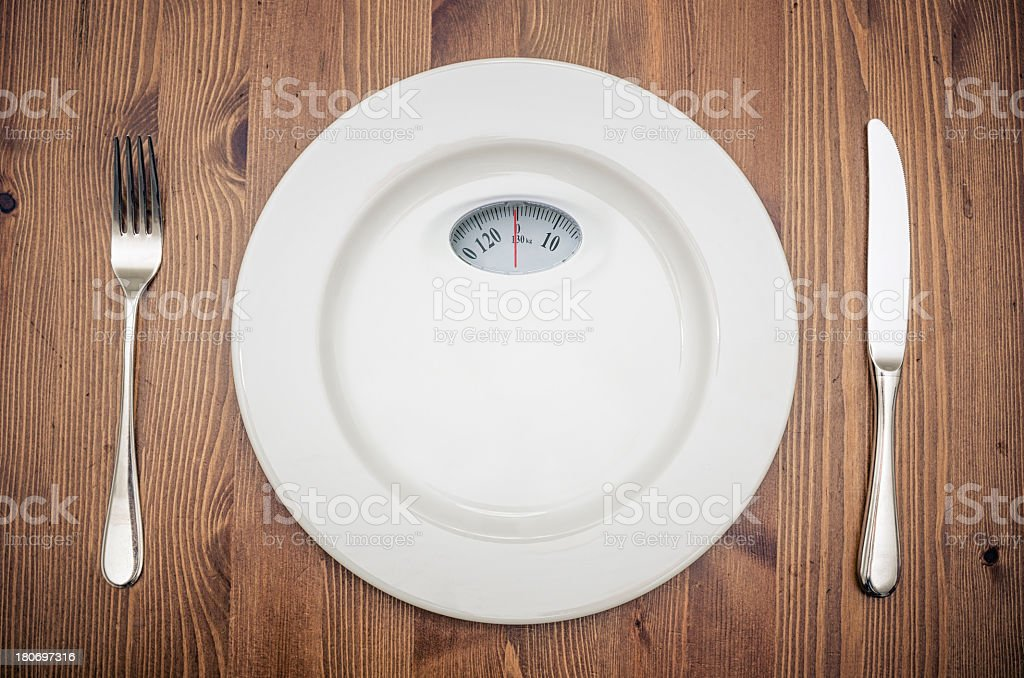 diet plate royalty-free stock photo