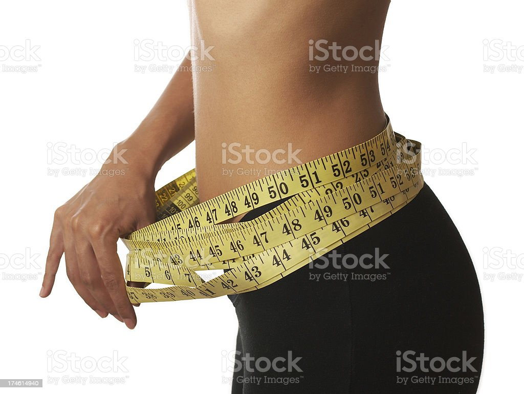 Diet results royalty-free stock photo