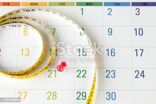 Calendar with Measuring Tape