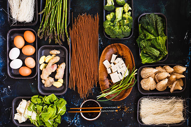 Diet, vegan and detox food concept. stock photo