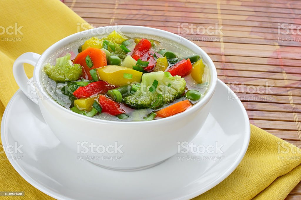 Diet vegetable soup royalty-free stock photo