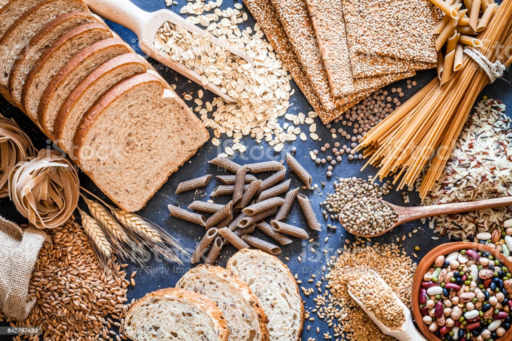 Dietary fiber food still life stock photo