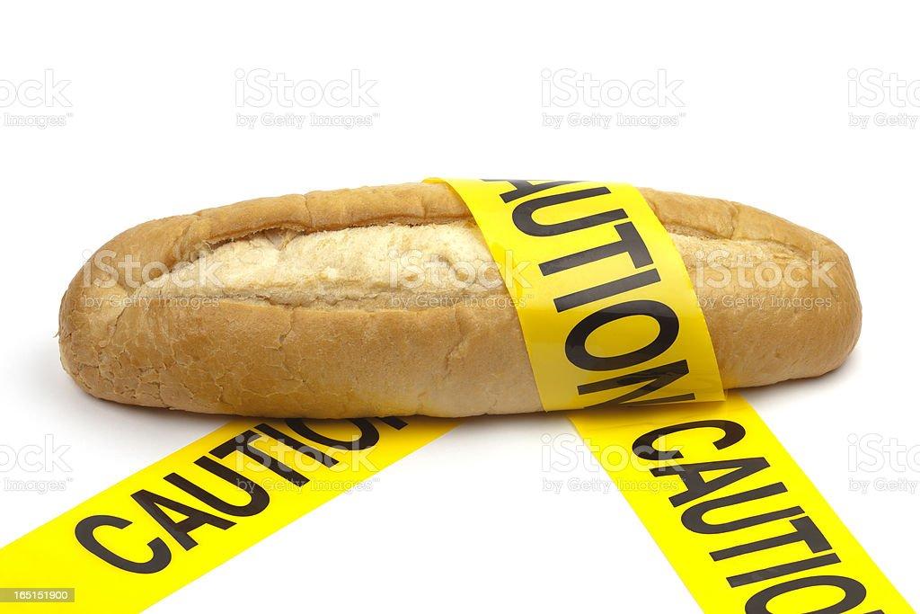 Dietary, gluten & wheat allergy warning stock photo